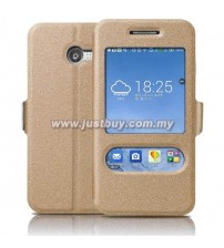 Asus Zenfone 4 Window View Flip Cover - Gold